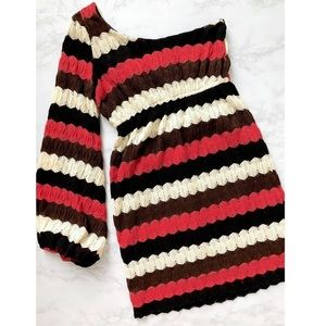 Judith March one shoulder knit dress. Worn once!